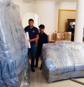 safa movers team packing furnitures for house shifting dubai
